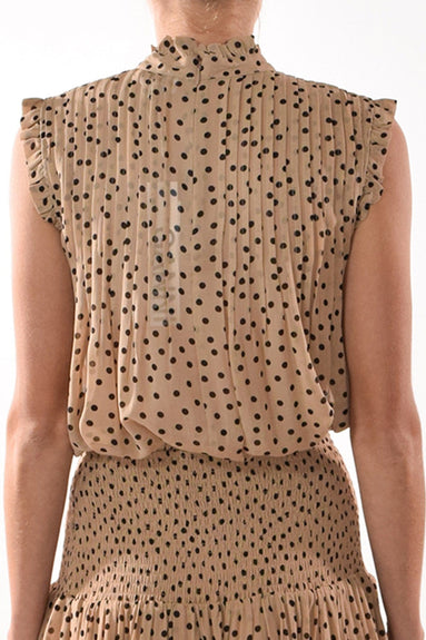 Printed Georgette Top in Tannin