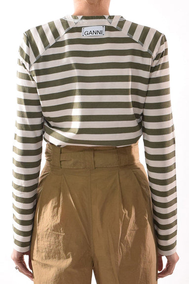 Striped Cotton Jersey Top in Kalamata