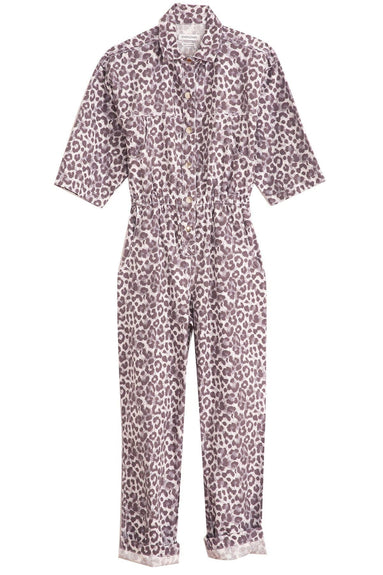 Hope Jumpsuit in Lilac Leopard