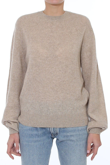 Viola Crewneck Sweater in Powder