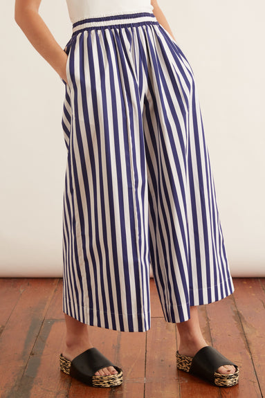 Mabel Culotte in Blue Stripe