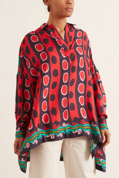 Silk Over Blouse in Pablo