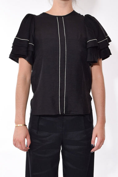 Global Roaming Top in Black