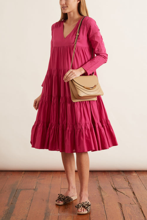 Rodas Dress in Fuchsia