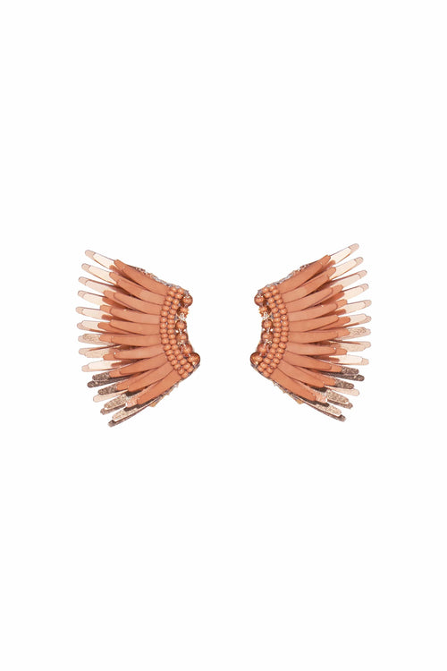 Mini Madeline Earring in Brown/Rose Gold
