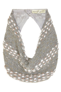 Kate Scarf Necklace in Silver