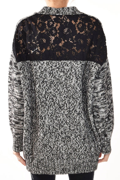 Lace Back Cardigan in Multicolor