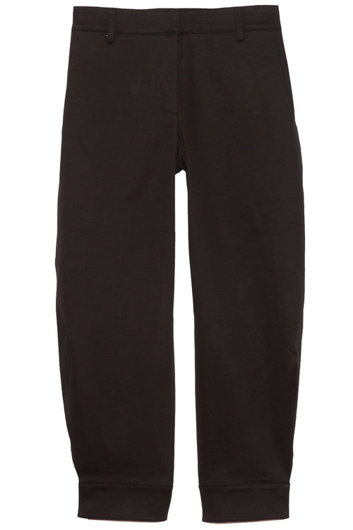 Organic Cotton Twill Sculpted Pant in Black