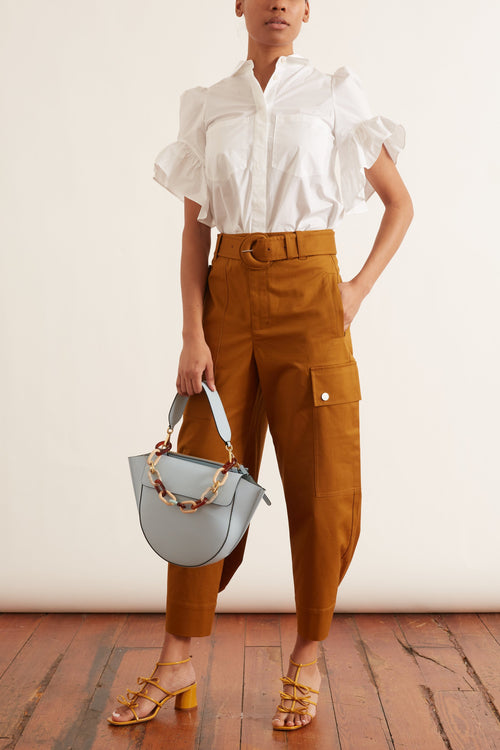 Cotton Belted Cargo Pant in Tobacco