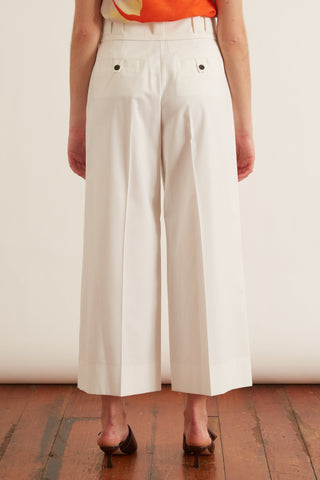 Lightweight Tech Suiting Culotte in Off White