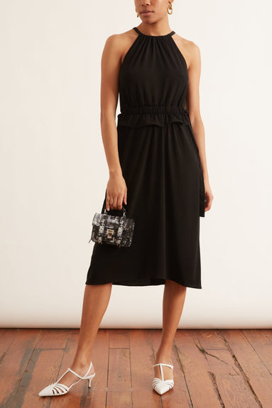 Sleeveless Cinched Dress in Black