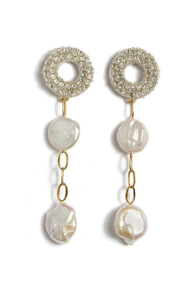 Chateau Pearl Earrings in Multi