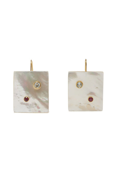 Domino Earrings in Pearl