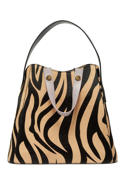Friday Shopper Tote in Zebra