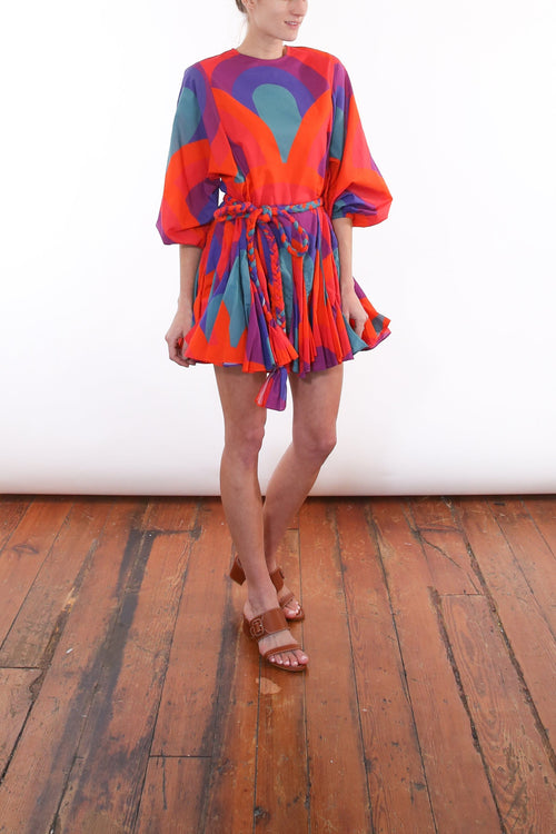 Ella Dress in Retro Rainbow