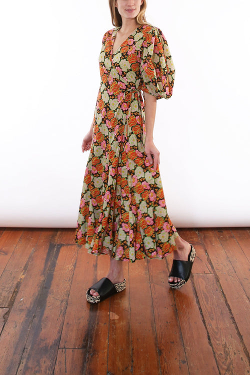 Fiona Dress in Electric Petal