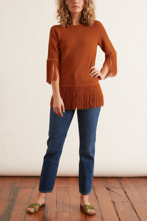 Ghita Top in Cinnamon