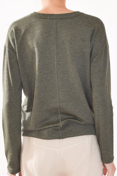 Surplus Pullover in Heather Army