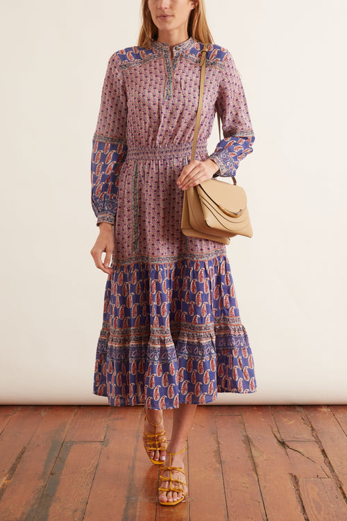 Bianca Long Sleeve Dress in Violet