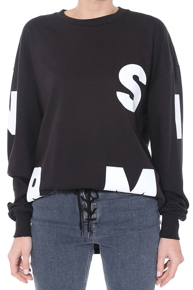 Solano Sweatshirt in Black/White Block Screen