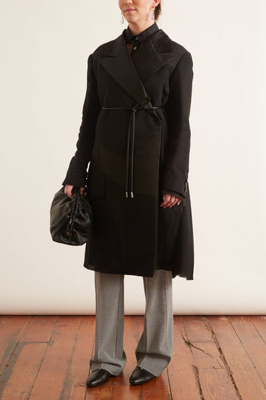 Voile Coat in Black