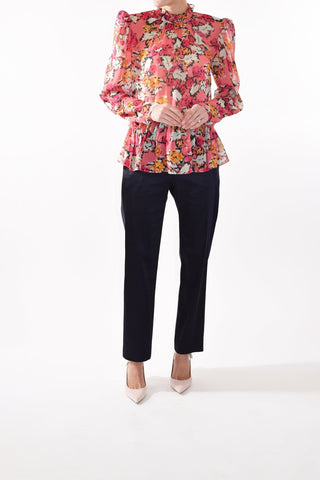 Mel Top in Valentine Damask