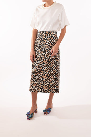 Apollo Pencil Skirt in Natural