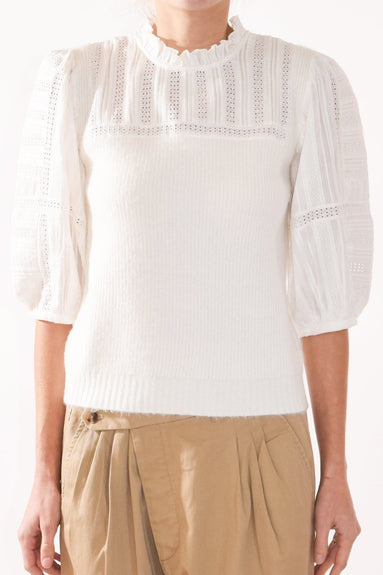 Pascale Combo Sweater in Cream