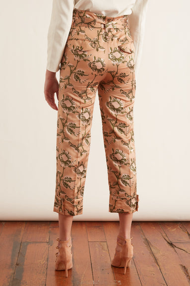 Paper Bag Trousers in Rose