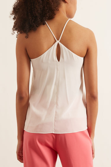 Solid Silk Halter Top in Ivory