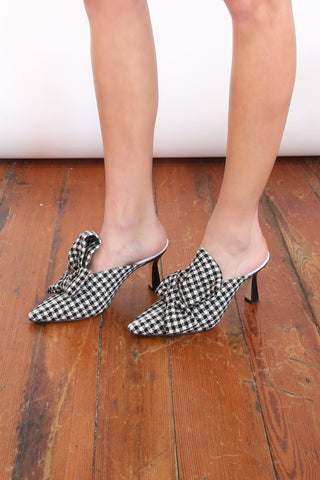Lotte Mule in Houndstooth