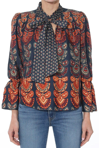 August Blouse in Black Multi