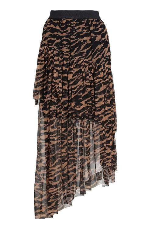 Wavelength Tiered Skirt in Sumatran Stripe