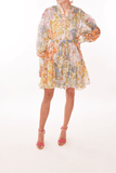 Super Eight Lantern Mini Dress in Mixed Floral