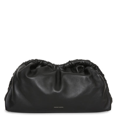 Lambskin Cloud Clutch in Black/Flamma
