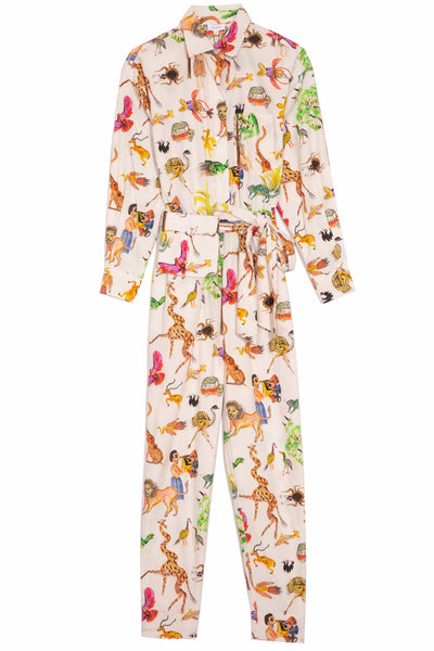 June Jumpsuit in Safari