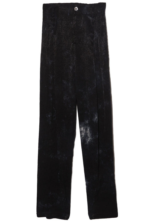 Pleated Pant in Black Tie Dye