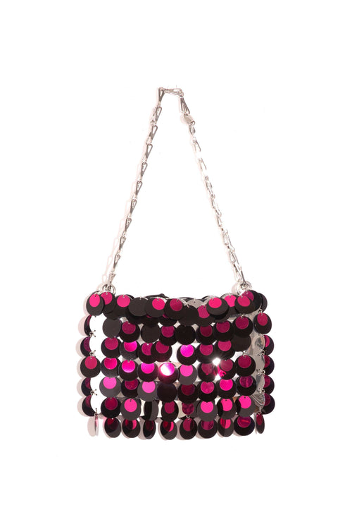 Sparkle 1969 Bag in Silver/Black/Fuschia