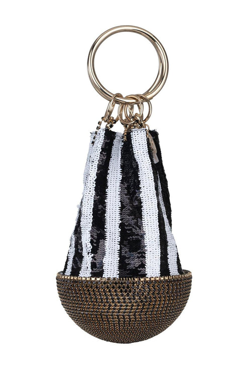Atacama Bag in Black/White Sequin