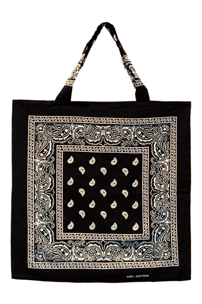 Bandana Beach Bag in Black