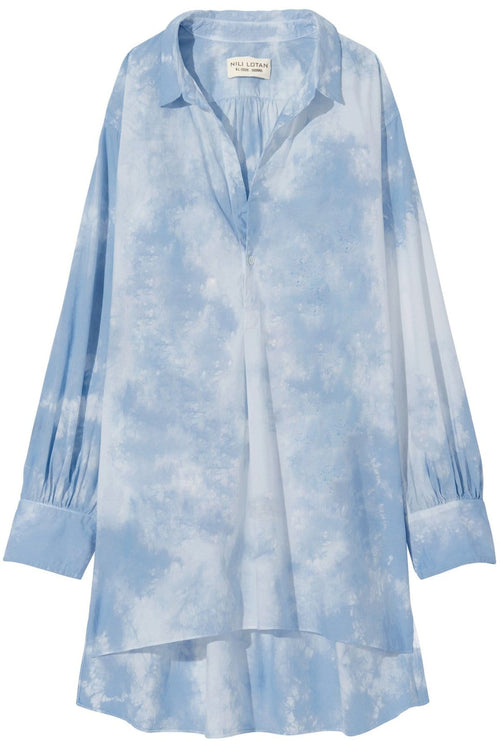Ambrose Tunic in Light Blue Tie Dye