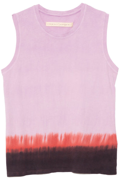 Fitted Muscle Tee in Purple Horizon