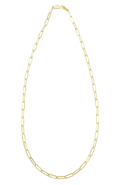 "14K Gold 16"" Paperclip Chain"