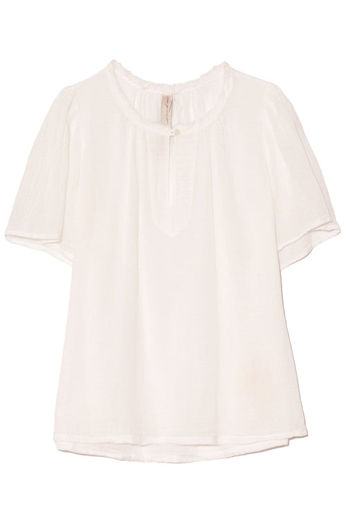 Flutter Blouse in White