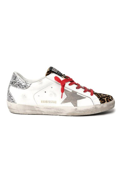 Superstar Sneaker in White/Brown Leo/Ice/Silver