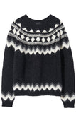 Adene Sweater in Grey Fair Isle