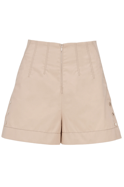 Sporty Power Short in Beige Sand