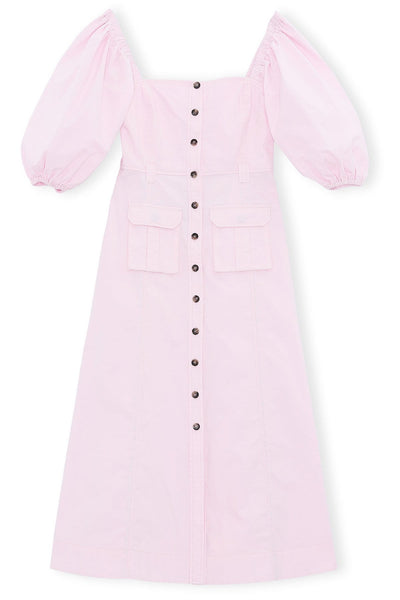 Ripstop Cotton Chino Dress in Cherry Blossom