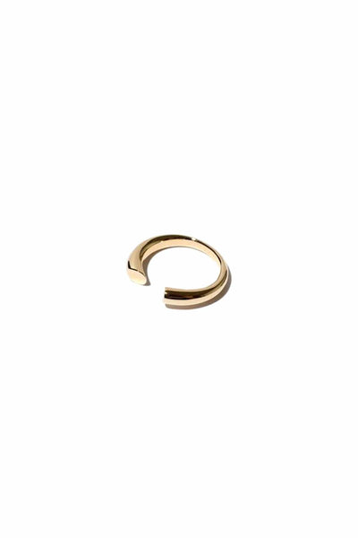 Nora Bevel Ring in 14k Gold Vermeil