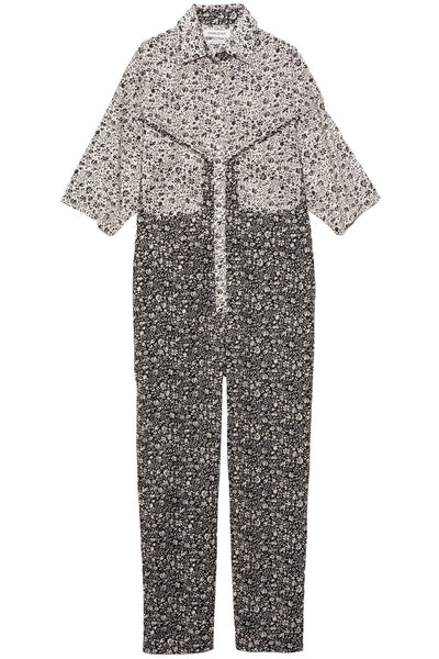 Lolina Jumpsuit in Flower Black